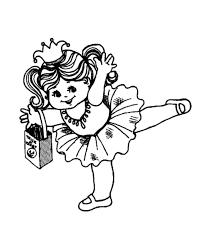 Ballet Dancer Costume Halloween Coloring Pages
