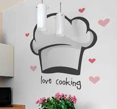 wandtattoos küche liebe es kochmütze zu kochen