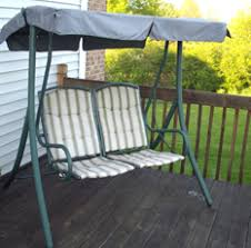 Kmart Porch Swing Cushions by Patio Swing Styles Swing Cushion Covers And More