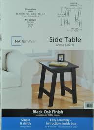 Mainstays Patio Heater Instructions by Mainstays End Table Black Oak Finish Walmart Com