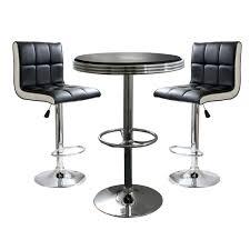 Pub Table Bar Stool Set Adjustable Seat High Chair Kitchen ...