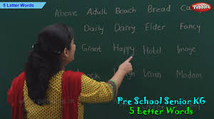 5 Letter Words Five Letter Phonics Words Sight Words Pre