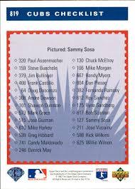 1993 Upper Deck Top Prospect Derek Jeter by 1993 Upper Deck 819 Sammy Sosa Tc Nm Mt Diamonds In The Rough
