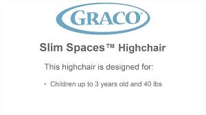 graco slim spaces space saver high chair manor walmart com