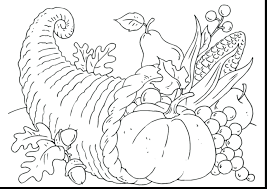 Free Printable Cornucopia Pattern Worksheets Thanksgiving Coloring Page Pages Adults Sheet Full Size