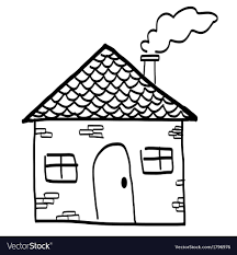 100 Housein Hand Drawn House In A Sketch Cartoon Style