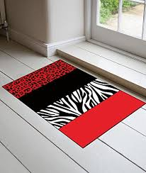Zebra Print Red Kitchen Decor