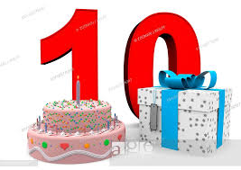happy birthday mit geschenk und kuchen stock photo picture