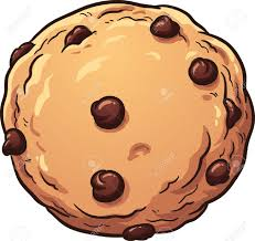 Chocolate chip cookie Vector clip art illustration with simple gra nts All in a single