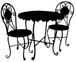 Chair Clipart Png Bistro Cafe Patio Furniture Table Chairs Clip Art Jpg Graphics Image