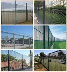 The Drawing Of Anti Climb Fence Installation Including Dipped Galvanized Anti Climb Fence 2 5m Post Height 12 7mm 76 2mm