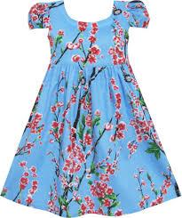 girls dress chinese plum flower print princess blue u2013 sunny fashion