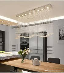 großhandel luxus modern wave kristall kronleuchter beleuchtung regen tropfen k9 kristall deckenleuchte für esszimmer l39 4 w7 9 h39 4 inch