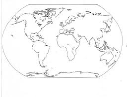 Coloring PageWorld Page Map 05 And Pages Printable World