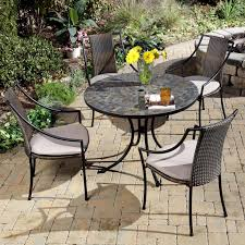 impressive on tile patio table shop patio furniture tile top patio