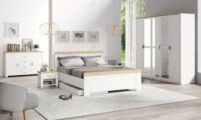 schlafzimmer komplett set dodoni 5 teilig weiß eiche