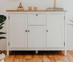 kommode sideboard landhausstil modern weiß eiche wohnzimmer 120x90 bergus ebay