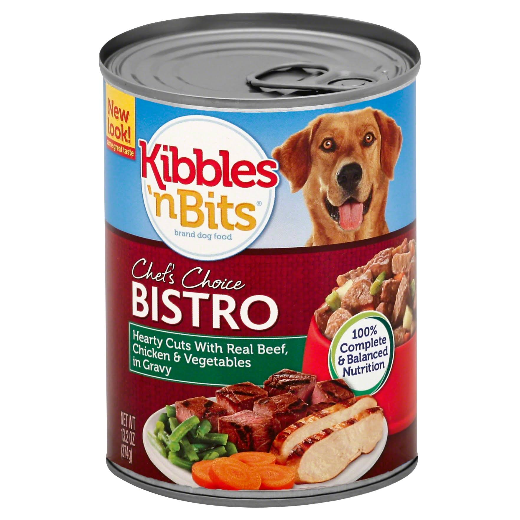 Kibbles 'n Bits Hearty Cuts Wet Dog Food - Real Beef, Chicken and Vegetables, 13.2oz