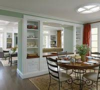 Diy Room Divider Dining Traditional With White Molding Green Wall French Door