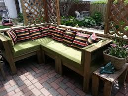 Furniture Make Your Own Rustic Outdoor Patio With Green Cushions Design