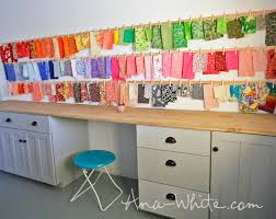Diy Sewing Cabinet Plans by Ana White Clothespin Fabric Storage Rails Diy Projects
