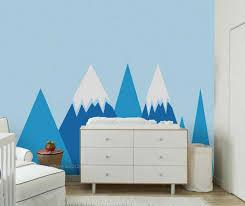 berg palette spitzen wand aufkleber wohnkultur kindergarten kinder baby schlafzimmer hintergrund tapete 3 farben kann wählen kunst aufkleber ss001