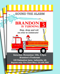 Fireman Birthday Invitations Best Of Firetruck Themed Birthday Party ...