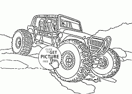 New Real Monster Truck With Horns Coloring Page For Kids | Free ...