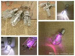 a colorful light bulb keychain creative led colorful light