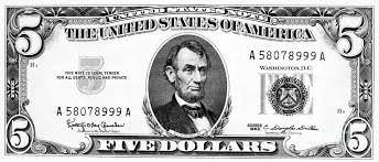 Five Dollar Bill graph by Granger