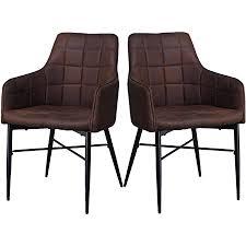 shinawood esszimmerstühle 2er set retro sessel kunstleder