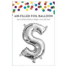 AirFilled Letter S Foil Balloon Kmart