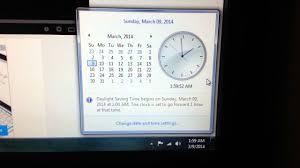 Spring Forward Daylight Saving Time Change PC