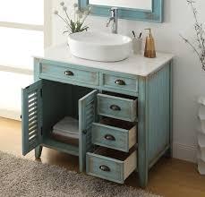 Distressed Bathroom Vanity Gray by 36