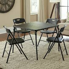 New Cosco 5-Piece Padded Card Table Set Folding Table And Chairs, Black  759455256554 | EBay Wooden Table And Chairs For Kids Dark Ding Style Crayola Chair Collapsible Folding Foldable Round Card Fniture Exciting Cosco Interesting Home Card Tables And Chairs Sets Tables Out Toddlers Outdoor Costco Teak Small Vintage Products 5pc Set Tan 5piece Black 7733 2533 Vtg Retro Samsonite 4 Astonishing Large Meco Sudden Comfort Deluxe Double Padded Back 5 Piece Chicory Safe Foldinhalf