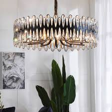 wohnzimmer kronleuchter dekoration runde kristall beleuchtung für schlafzimmer esszimmer rechteck küche schwarz licht innen beleuchtung