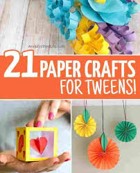 Paper Craft Ideas For Teenagers And Colorful Crafts Teens To Realize Homesthetics Rhhomestheticsnet Cool
