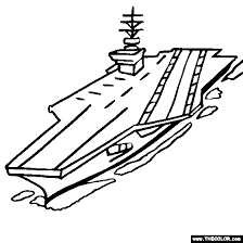 US Navy Aircraft Carrier Coloring Pages