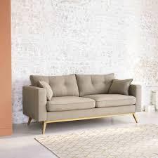 skandinavisches ausziehbares 3 sitzer sofa beige maisons du monde