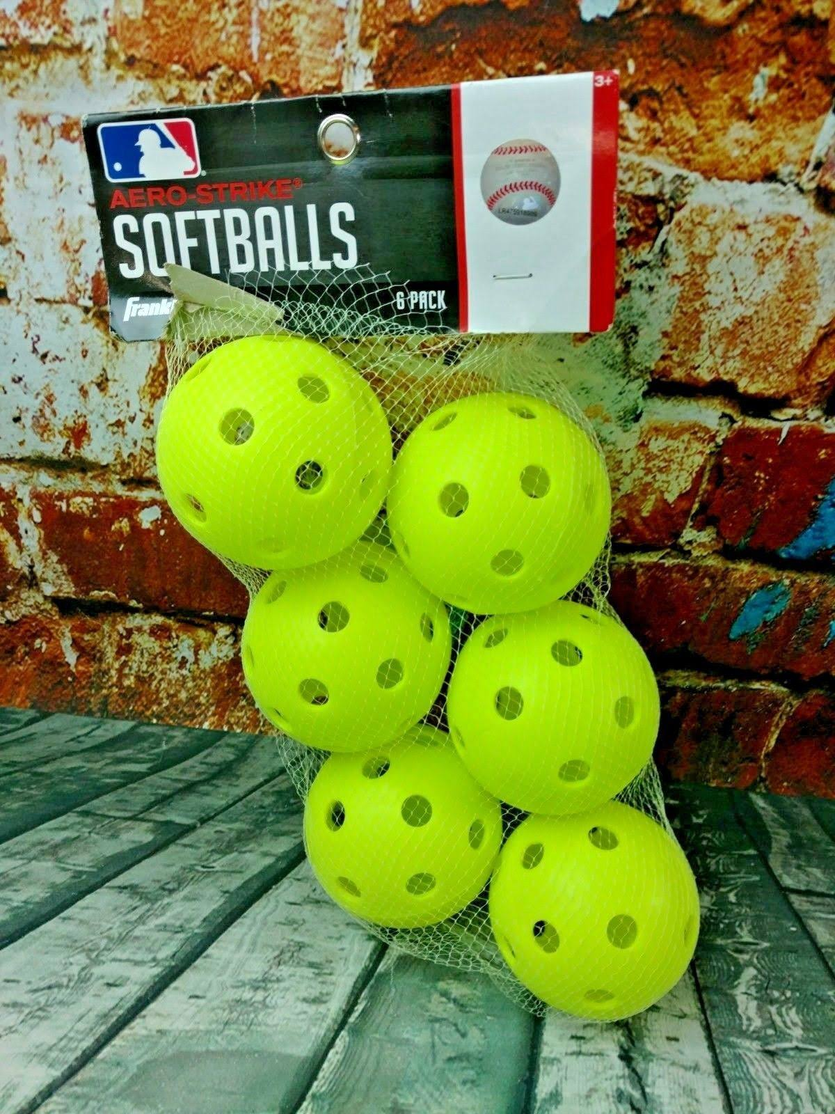 Aero-Strike Softballs 6-Pack MLB Franklin New Sealed