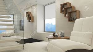 100 Projects Contemporary Furniture Render Of 3D Living Room Interior And Modern