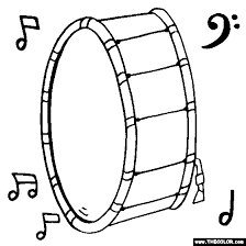 Bass Drum Online Coloring Page