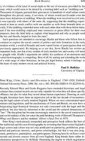 Peter King Crime Justice And Discretion In England 1740 1820 Oxford University Press 2000 Pp Xiii 383 9500 ISBN 0 19 822910