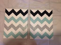 DIY Chevron Canvas Make Your Pattern Tape Off Paint And Add Some Bedroom Wall Ideas For TeensRoom Decor