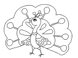 Peacock Coloring Page Free Printable Cartoon Picture Book For Kids