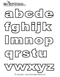 Coloring Pages Of Alphabet Printable