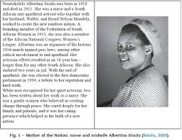 An Integrative Review Of Albertina Sisulu And Ubuntu Relevance To