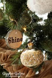 Pin This DIY Wood Slice Ornaments My Rustic Reindeer Christmas Tree