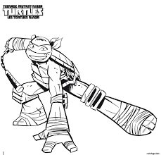 Coloriage Tortue Ninja 9 JeColoriecom