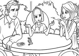 Barbie Thumbelina Vanessa Talking To Her Parents In Coloring Pages